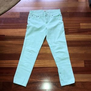 JCREW mint stretch jeans